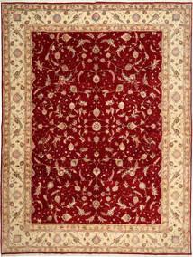 Tabriz 50 Raj Matto 290X398 Itämainen Käsinsolmittu Tummanpunainen/Vaaleanruskea Isot (Villa/Silkki, Persia/Iran)