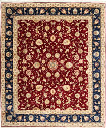 Tabriz 50 Raj Rug 250X298 Authentic  Oriental Handknotted Beige/Dark Red Large (Wool/Silk, Persia/Iran)