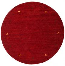 Gabbeh Loom Two Lines - Red Rug Ø 200 Modern Round Dark Red/Crimson Red (Wool, India)