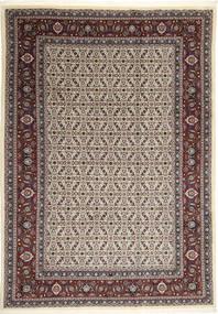 Moud Teppich 246X346 Echter Orientalischer Handgeknüpfter Hellbraun/Dunkelbraun (Wolle/Seide, Persien/Iran)