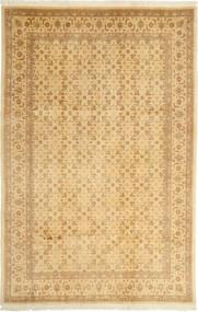 Tebriz 50 Raj Dywan 167X252 Orientalny Tkany Ręcznie Jasnobrązowy/Ciemnobeżowy (Wełna/Jedwab, Persja/Iran)