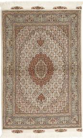 Tebriz 50 Raj Dywan 100X150 Orientalny Tkany Ręcznie Jasnobrązowy/Beżowy (Wełna/Jedwab, Persja/Iran)