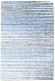 Bamboo Silk Handloom Rug 202X304 Authentic  Modern Handknotted Light Blue/Beige ( India)