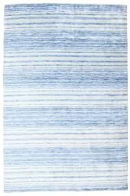 Bamboo Silkki Handloom Matto 202X304 Moderni Käsinsolmittu Vaaleansininen/Vaaleanharmaa/Beige ( Intia)