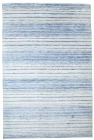 Bamboo Silk Handloom Rug 201X303 Authentic  Modern Handknotted Light Blue/Beige ( India)