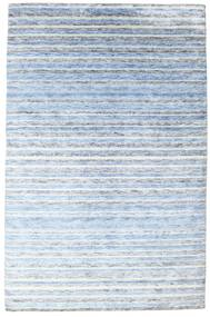 Bamboo Silk Handloom Rug 200X304 Authentic  Modern Handknotted Beige/Light Blue ( India)