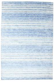 Bamboo Silk Handloom Rug 200X304 Authentic  Modern Handknotted Light Blue/Light Grey/Beige ( India)