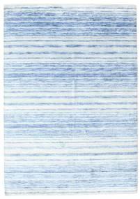Bamboo シルク ハンドルーム 絨毯 164X234 モダン 手織り 水色/ベージュ ( インド)