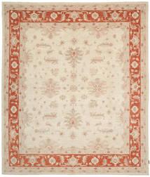 Ziegler Rug 294X345 Authentic Oriental Handknotted Beige/Crimson Red Large (Wool, Pakistan)