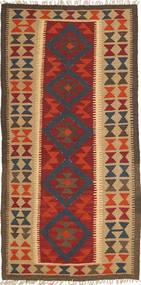Kilim Maimane Dywan 98X205 Orientalny Tkany Ręcznie Jasnobrązowy/Ciemnoczerwony/Ciemnobrązowy (Wełna, Afganistan)