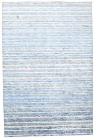 Bamboo Silk Handloom Rug 202X304 Authentic  Modern Handknotted Beige/Light Blue ( India)