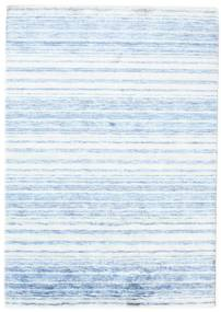 Bamboo Silk Handloom Rug 164X232 Authentic  Modern Handknotted Light Blue/Beige ( India)