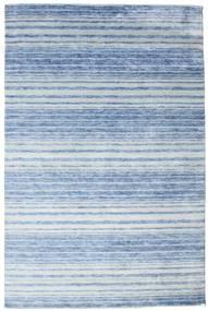 Bambus Seide Handloom Teppich  199X304 Echter Moderner Handgeknüpfter Hellblau/Blau ( Indien)