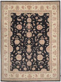 Ziegler Matto 264X363 Itämainen Käsinsolmittu Vaaleanruskea/Musta Isot (Villa, Pakistan)