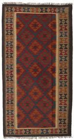 Kelim Maimane Tapijt 109X203 Echt Oosters Handgeweven Donkerrood/Donkerbruin (Wol, Afghanistan)