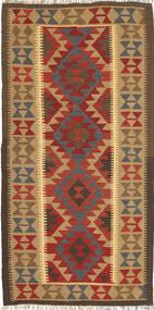 Kilim Maimane Rug 102X202 Authentic  Oriental Handwoven Light Brown/Dark Red (Wool, Afghanistan)