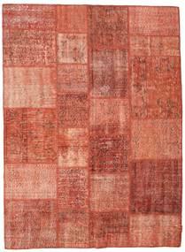 Patchwork Alfombra 171X233 Moderna Hecha A Mano Óxido/Roja/Marrón Claro (Lana, Turquía)