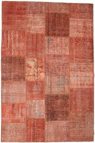 Patchwork Rug 198X300 Authentic  Modern Handknotted Rust Red/Light Brown (Wool, Turkey)