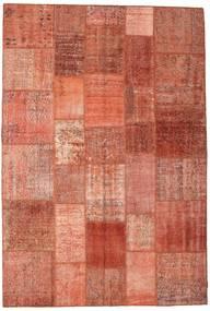 Patchwork Matto 204X300 Moderni Käsinsolmittu Vaaleanruskea/Vaaleanpunainen/Ruoste (Villa, Turkki)