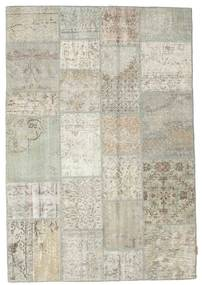 Patchwork Rug 138X201 Authentic  Modern Handknotted Light Grey/Dark Beige (Wool, Turkey)