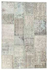 Patchwork Rug 137X202 Authentic  Modern Handknotted Light Grey/Dark Beige (Wool, Turkey)