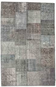 Patchwork Rug 197X303 Authentic  Modern Handknotted Dark Grey/Light Grey (Wool, Turkey)