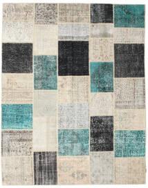 Patchwork Tapis 238X302 Moderne Fait Main Gris Clair/Beige (Laine, Turquie)