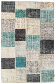 Patchwork Rug 197X304 Authentic  Modern Handknotted Light Grey/Light Green (Wool, Turkey)
