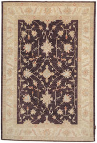 Ziegler Rug 164X250 Authentic  Oriental Handknotted Dark Brown/Dark Beige (Wool, Pakistan)