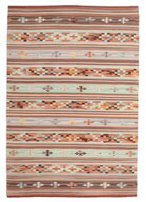 Kelim Anatolian Matto 120X180 Moderni Käsinkudottu Vaaleanruskea/Vaaleanharmaa (Villa, Intia)