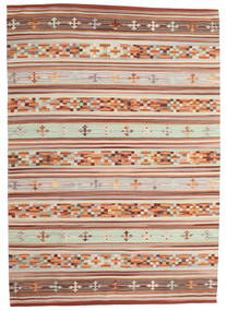 Kilim Anatolian Rug 160X230 Authentic  Modern Handwoven Light Brown/Beige (Wool, India)