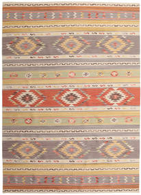 Kilim Nimrud Rug 240X340 Authentic  Modern Handwoven Light Brown/Light Grey (Wool, India)