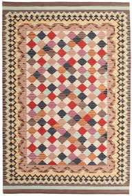 Kilim Caspian Rug 190X290 Authentic  Modern Handwoven Light Brown/Brown (Wool, India)
