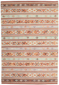 Kilim Anatolian Rug 190X290 Authentic  Modern Handwoven Beige/Light Brown (Wool, India)