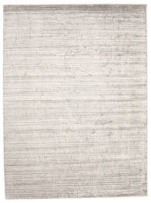 Bamboo Silk Loom - Warm Grey Rug 300X400 Modern Light Grey/White/Creme Large ( India)