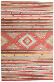 Kilim Mersin Rug 190X290 Authentic  Modern Handwoven Rust Red/Light Brown (Wool, India)