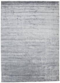 Bambus Silke Loom - Denim Blå Tæppe 250X350 Moderne Lysegrå/Hvid/Creme Stort ( Indien)