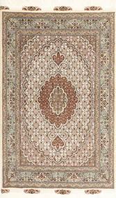 Tabriz 50 Raj Matta 100X150 Äkta Orientalisk Handknuten Ljusbrun/Brun (Ull/Silke, Persien/Iran)