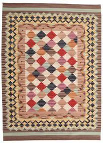 Kilim Caspian Rug 140X200 Authentic  Modern Handwoven Light Brown/Brown (Wool, India)