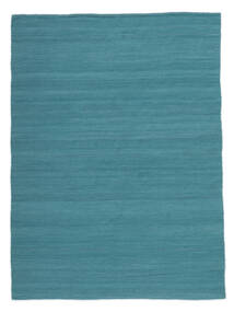 Kilim Loom - Petrol Blue Rug 160X230 Authentic  Modern Handwoven Blue/Turquoise Blue (Wool, India)
