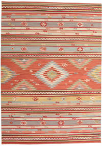 Kilim Mersin Rug 160X230 Authentic  Modern Handwoven Light Brown/Rust Red (Wool, India)