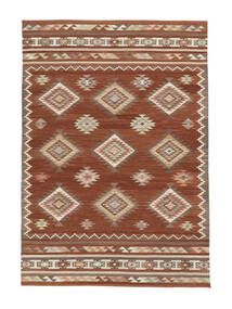 Kilim Malatya Rug 140X200 Authentic  Modern Handwoven Light Brown/Rust Red (Wool, India)