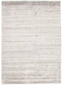 Bamboo Silk Loom - Warm Grey Rug 140X200 Modern White/Creme/Light Grey ( India)