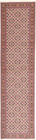 Tabriz 50 Raj Rug 75X295 Authentic  Oriental Handknotted Hallway Runner  Dark Red/Light Pink (Wool/Silk, Persia/Iran)