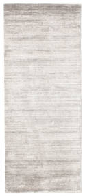 Bambu silke Loom - Lys Grå / Beige teppe CVD15234