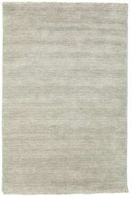 Handloom fringes - Grey / Light Green carpet CVD14005