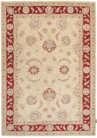 Ziegler Rug 172X239 Authentic  Oriental Handknotted Light Brown/Beige (Wool, Pakistan)