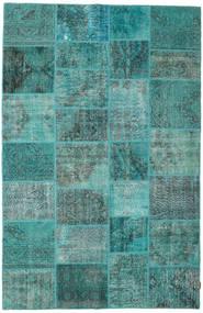 パッチワーク 絨毯 198X303 モダン 手織り ターコイズ/ターコイズブルー (ウール, トルコ)