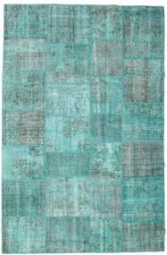 パッチワーク 絨毯 196X298 モダン 手織り ターコイズブルー/ターコイズブルー (ウール, トルコ)