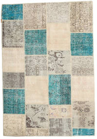 Patchwork Rug 158X232 Authentic  Modern Handknotted Light Grey/Turquoise Blue (Wool, Turkey)
